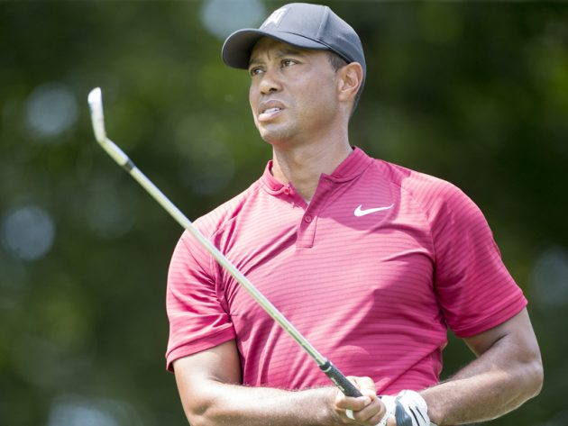 Tiger Woods struggled with the putter