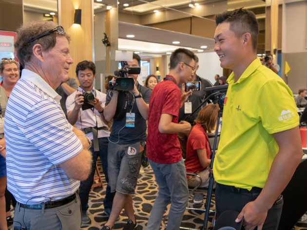 Tom Watson meets Yuxin Lin