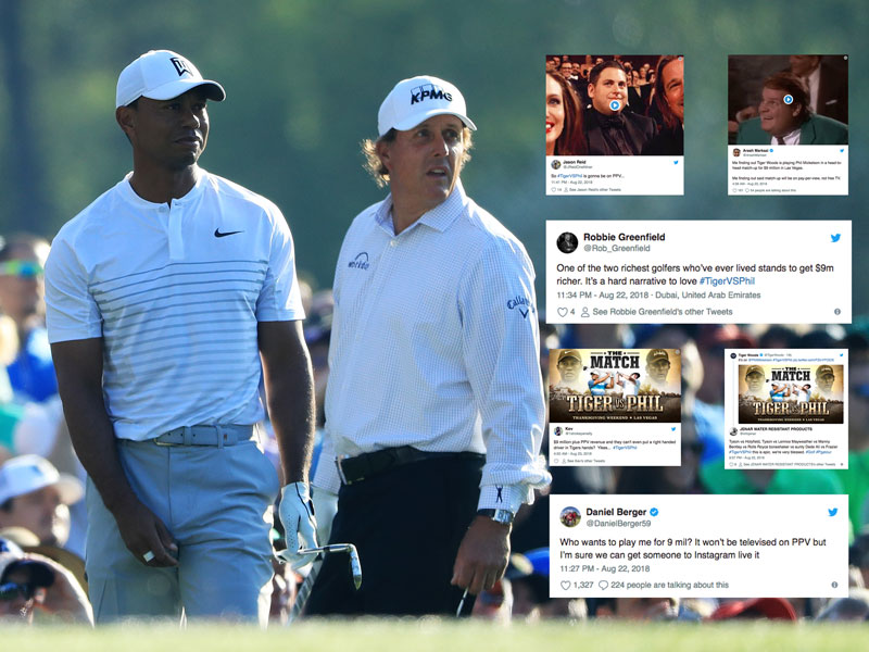 How Social Media Reacted To The Tiger Vs Mickelson Announcement
