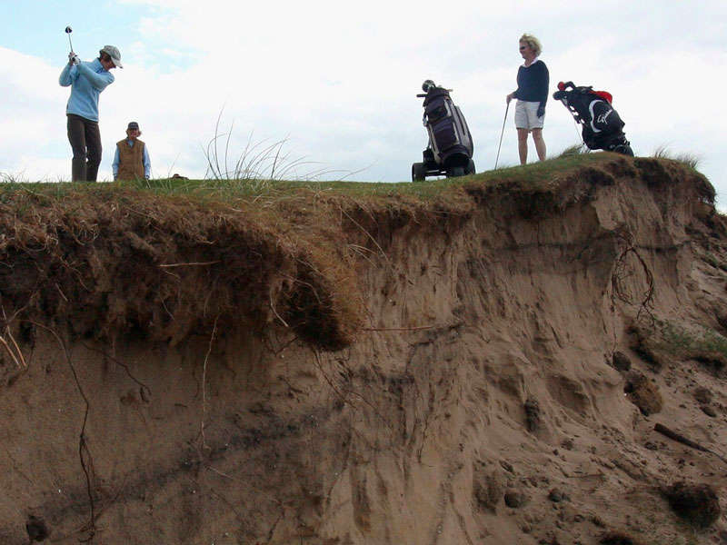 Parts Of England's Oldest Golf Course Washed Away Into The Sea