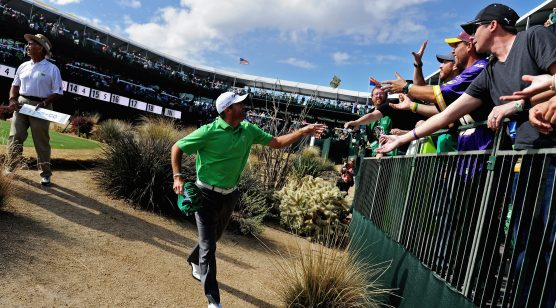 The par-13 16th hole at TPC Scottsdale. There will be noise. (USA TODAY Sports images).