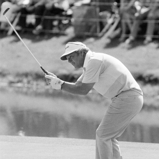 Not every putt fell for Arnold Palmer. (AP Photo)