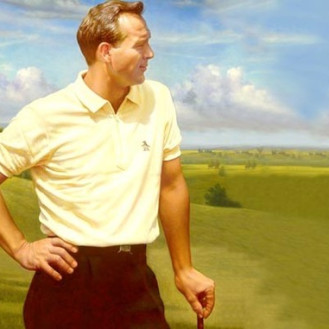 An undated advertisement for Original Penguin with Arnold Palmer. (File)