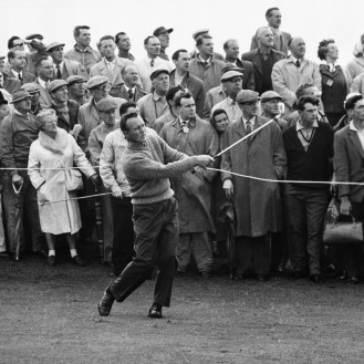 Arnold Palmer's success at the British Open in the early 1960s led to more Americans playing in the event. (AP Photo)