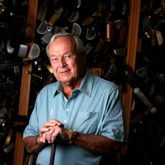 Arnold Palmer in his workshop in Latrobe, Pa., on the eve of his 80th birthday. (Tracy Wilcox/GOLFWEEK)