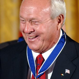 Arnold Palmer was awarded Presidential Medal of Freedom in 2004. (AP Photo)