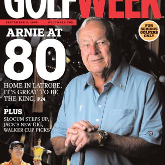 Arnold Palmer celebrates 80th birthday. (2009)