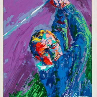 This Leroy Neiman painting of Arnold Palmer was up for auction at Heritage Auctions in 2017.