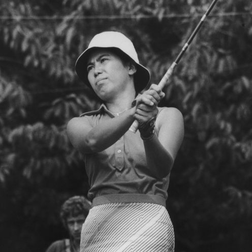 2003: Hisako 'Chako' Higuchi won the 1977 LPGA Championship, making herself the first Asian male or female player to win a major golf tournament. (Hulton Archive/Getty Images)