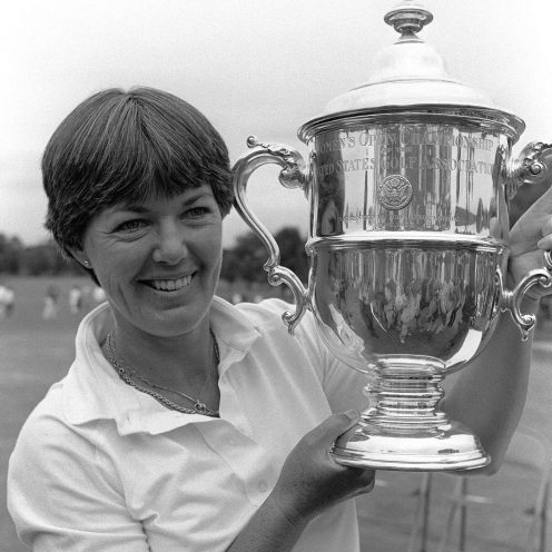 1991: Pat Bradley was fixture in the winner's circle on the LPGA Tour in the 1980s. She won 31 Tour events, including six major titles.