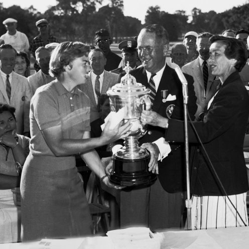 1960: Betsy Rawls (left) won eight major championships and 55 LPGA Tour career events. (Getty Images)