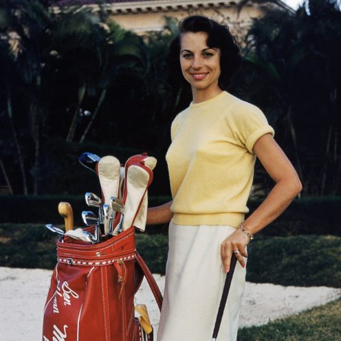 2002: Marlene Bauer Hagge was one of the 13 founders of the LPGA in 1950. A young golf star along with her sister, Alice, she was named the Associated Press' Woman Athlete of the Year in 1949 at the age of 15. (Hy Peskin/Getty Images)
