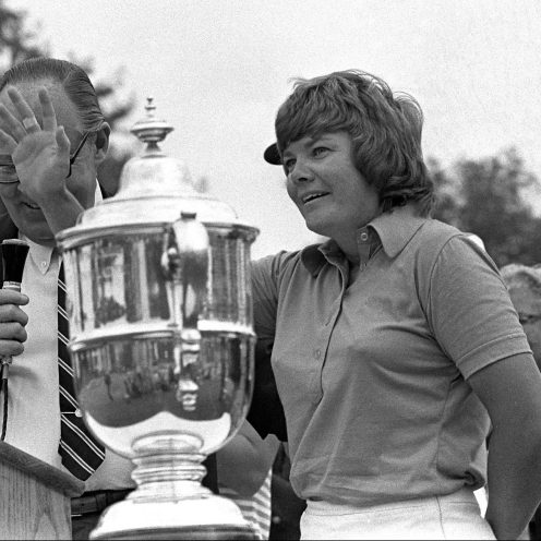 1977: Sandra Haynie won 42 times on the LPGA Tour, including four majors. She ranked in the top ten on the LPGA Tour money list every year from 1963 and 1975. (Getty Images)