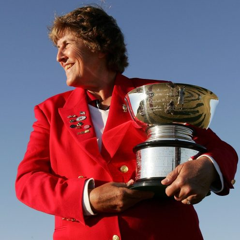 2008: Carol Semple Thompson was an amateur for her entire career. She was enshrined in the Lifetime Achievement Category. (Jonathan Ferrey/Getty Images)