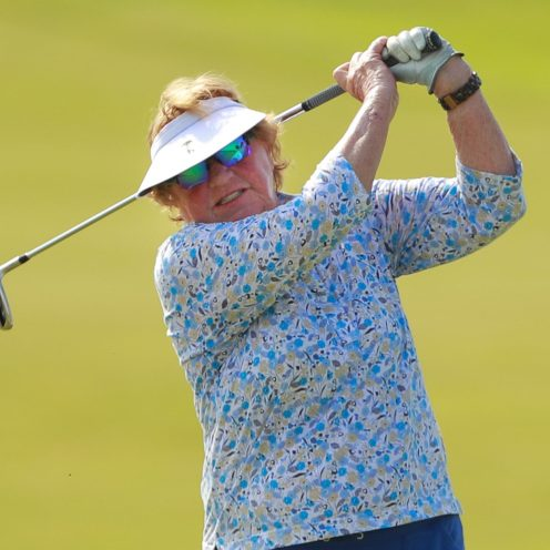 1982: JoAnne Carner earned 43 PGA Tour victories and was the only woman to have won the U.S. Girls' Junior, U.S. Women's Amateur, and U.S. Women's Open titles. (USGA/Chris Keane)