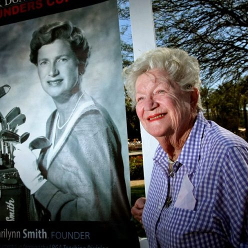 2006: Marilynn Smith was one of the 13 founders of the LPGA and joined the Hall of Fame in the Lifetime Achievement category. She passed away on April 9, 2019.