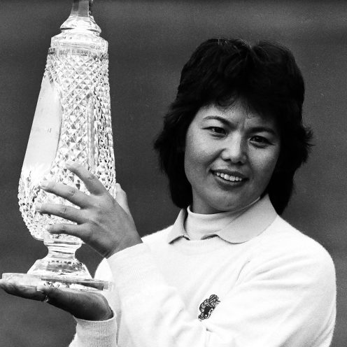 2005: Ayako Okamoto was a superstar in Japan before she joined the LPGA Tour. Her record includes 62 combined international and LPGA Tour victories from 1975-95. (Getty Images)