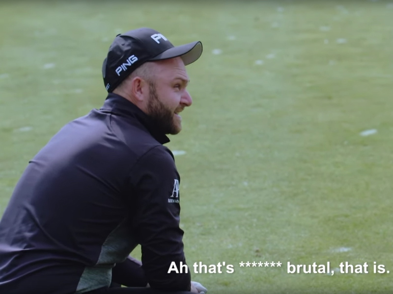 Andy Sullivan Attempts Hole-In-One From 500 Balls